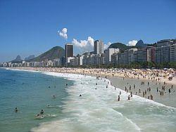 Copacabana - eine der Haupt Sehenswürdigkeiten in Rio de Janeiro
