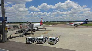 Flugzeuge im Flughafen von Rio de Janeiro