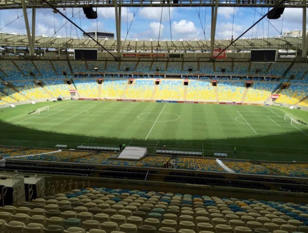 Blick von der Tribune ins Marcana Stadion
