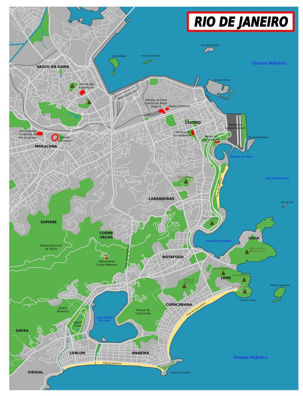 Rio de Janeiro - Karte